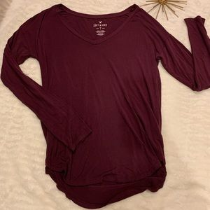 Like New American Eagle Soft & Sexy Maroon Top